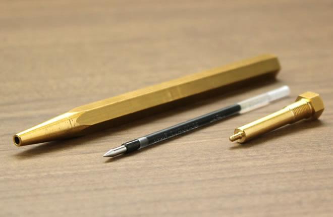 真鍮製ボールペン