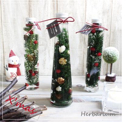 クリスマスツリー風ハーバリウム