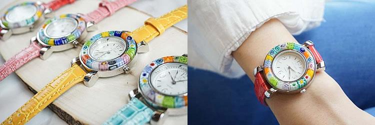 ヴェネチアングラス腕時計