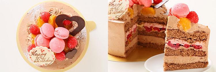 プチマカロンチョコレートケーキ