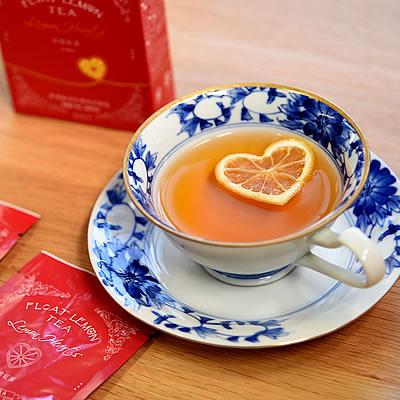 乾燥レモン付き紅茶