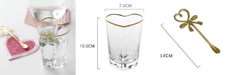 ハート型グラス&スプーン